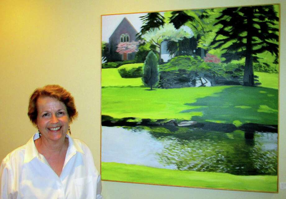 "Greenwich artist Deborah Bonnell finds her inspiration in nature. Some of her works are currently on display in her exhibition ""Gardens on My Mind,"" at The Gallery at Bistro Latino restaurant in Old Greenwich. Photo: Picasa, Anne Semmes / Greenwich Time"