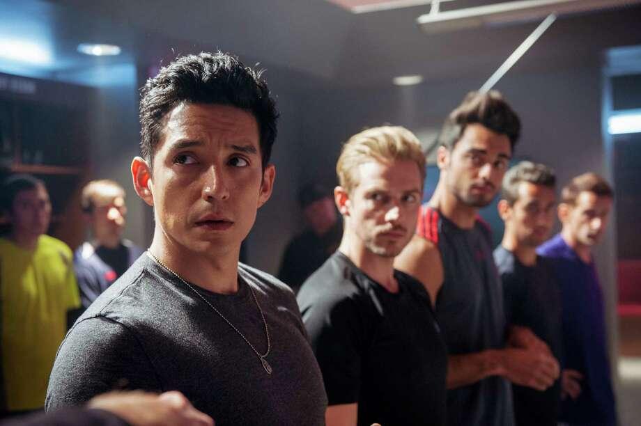 "Tony Bravo (Gabriel Luna), Lafell (Jeff Berg), Saurian (Julien Samani) in, ""Matador."" Photo: Richard Foreman, Jr.  SMPSP, Handout / ONLINE_CHECK"