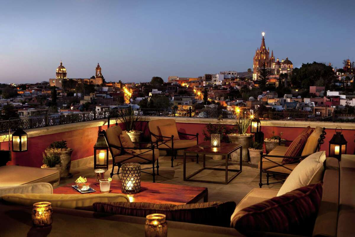 Luna Rooftop Tapas Bar offers great views of the sunset.