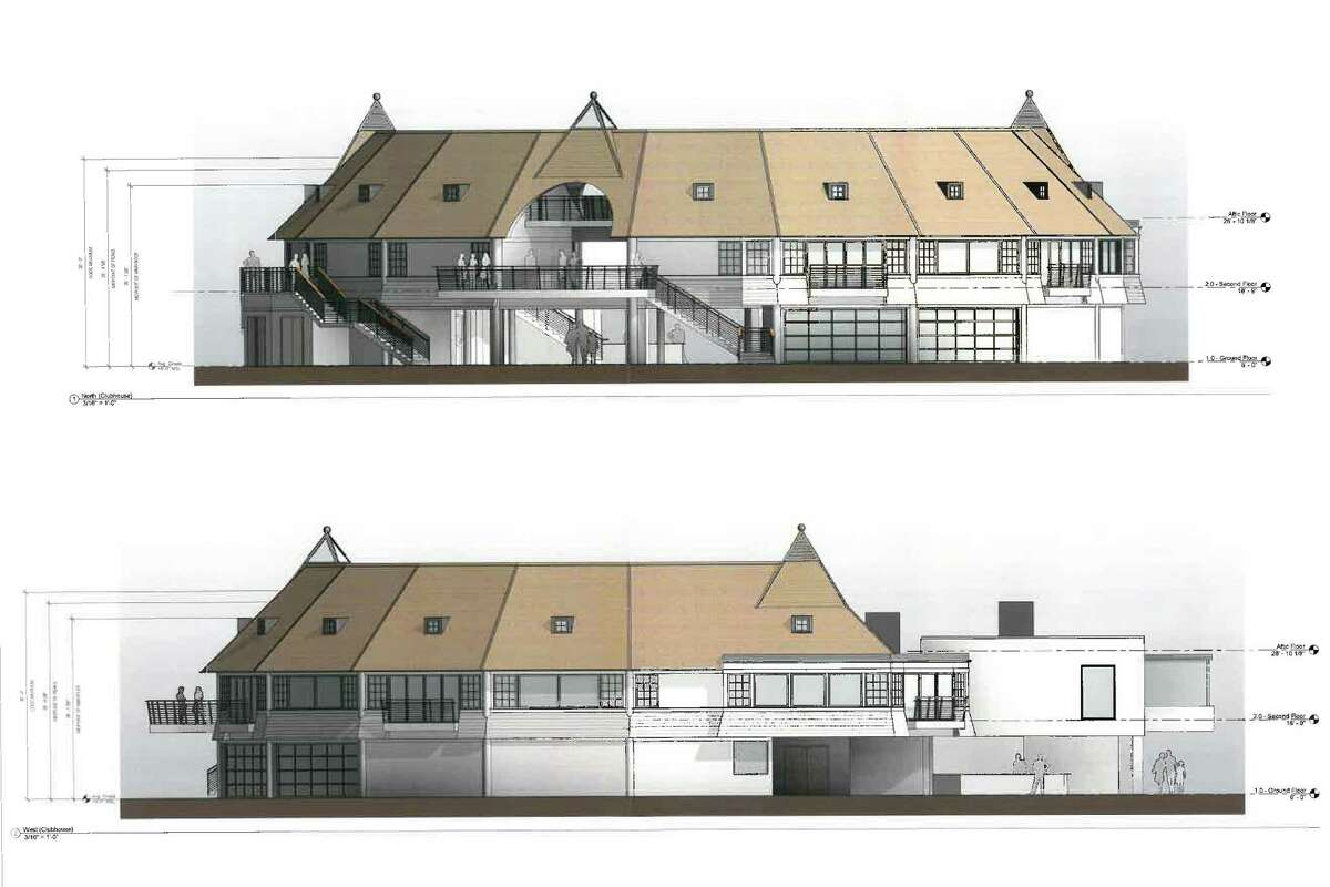 Architect's rendering for the new Tokeneke Club after the proposed renovations are complete in 2016.