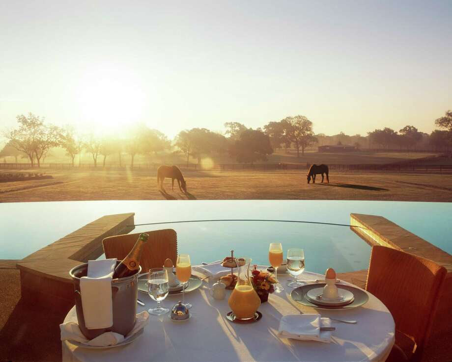 Not a bad breakfast view at the Inn at Dos Brisas in Washington, a mere hour or so drive from downtown Houston. Photo: Julie Soefer / The Inn at Dos Brisas