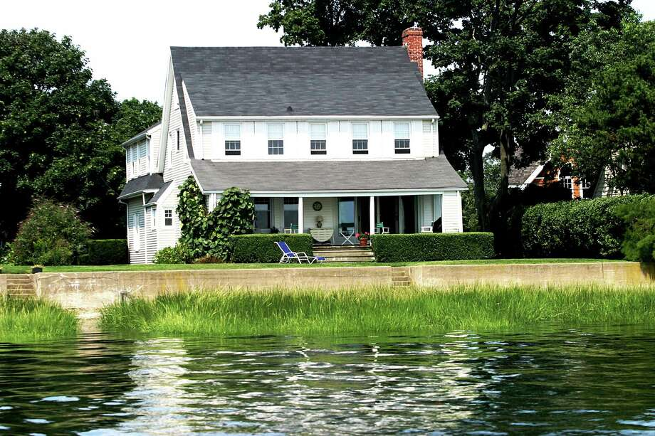 The house at 9 Owenoke Park is on the market for $3,450,000. Photo: Contributed Photo / Westport News