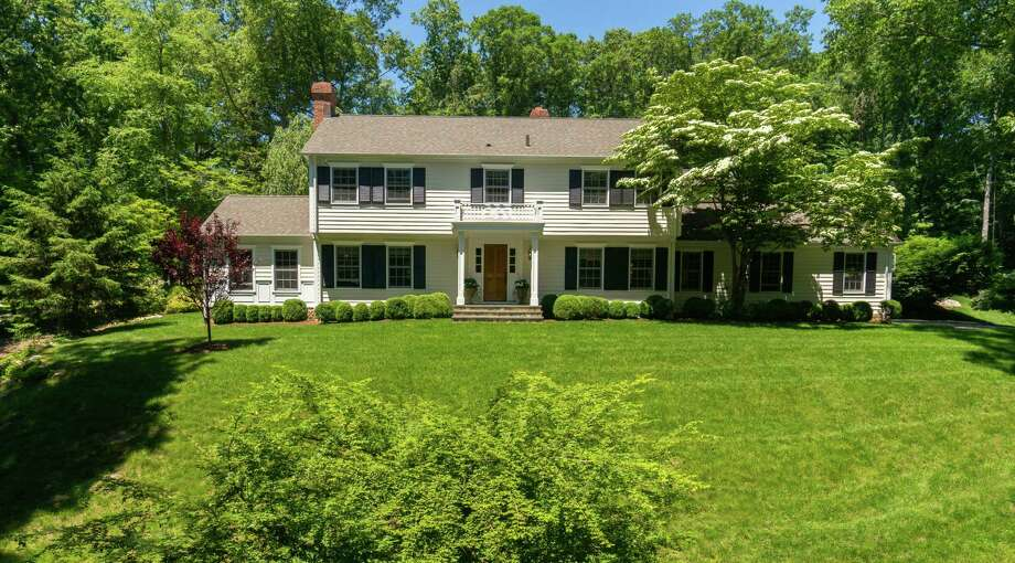 The renovated Colonial at 72 Wellesley Drive in New Canaan offers designer elements throughout the house. It is on the market for $2,195,000. Photo: Contributed Photo, Contributed / New Canaan News Contributed