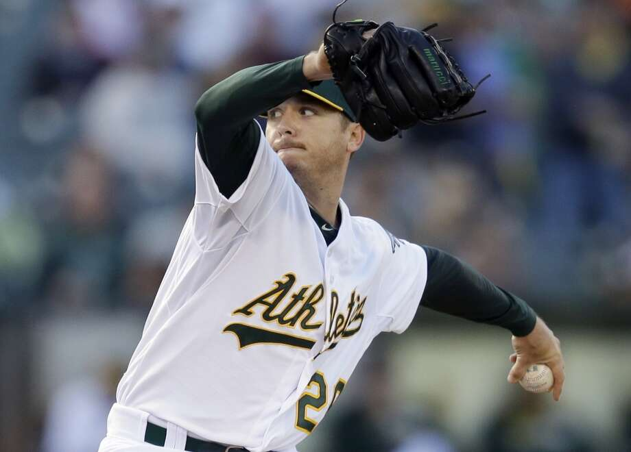 """His numbers: Third in league in ERA (2.38) and WHIP (0.98), trailing Chris Sale and Felix Hernandez in both. Joins Mark Mulder and Barry Zito as the only A's lefties in 29 years to reach 10 wins before the break. Strikeout-to-walk ratio (4-1) best of his career. Past five home starts: 5-0, 1.00 ERA.His words: """"I always feel like I'm going to have a chip on my shoulder from now on after everything that kind of went on and getting back. I'm always going to feel like I have something to prove."""" Photo: Ben Margot, Associated Press"""
