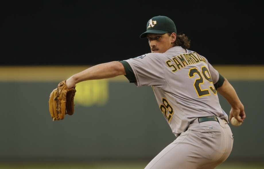Jeff Samardzija   Wasn't expected to be a 2014 All-Star because: Well, he wasn't expected to be an A's All-Star, anyway.   His story: The All-America wide receiver from Notre Dame seemed more destined for a Pro Bowl but settled on baseball after getting drafted by the Cubs. He would have been on the National League All-Star team except for his Independence Day trade to Oakland. Now he's in the A's rotation, along with fellow ex-Cub Jason Hammel, keys to the team's quest for a third straight division title and a deeper run in the playoffs, after consecutive first-round knockouts. Photo: Ted S. Warren, Associated Press