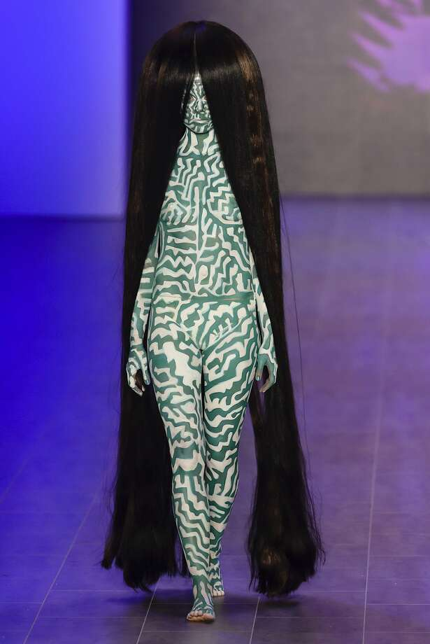 Rapunzel, Rapunzel: A model walks the runway at the Dare By Johny Dar show during the Mercedes-Benz Fashion Week in Berlin. Photo: Clemens Bilan, Getty Images
