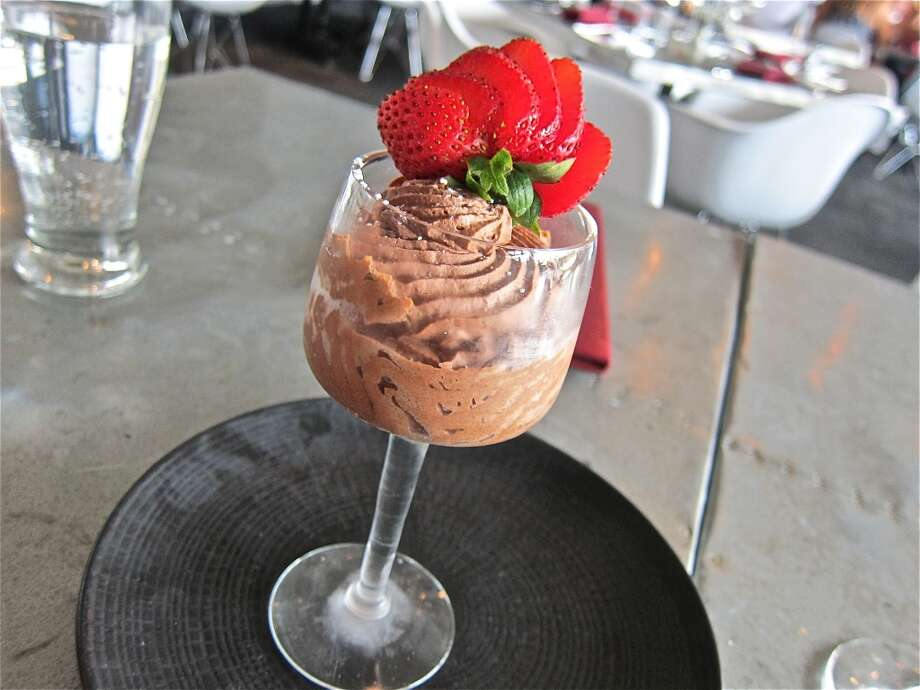 Chocolate mousse as served at L'Olivier on Westheimer. Photo: Alison Cook