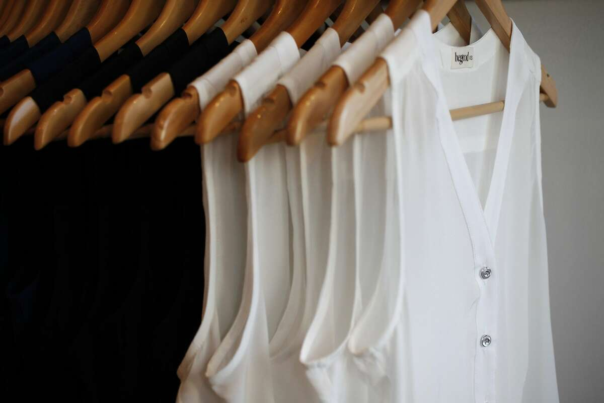 A rack of Fillmore tanks and Market blouses pictured July 9, 2014 at the BeGood clothing store in San Francisco, Calif.