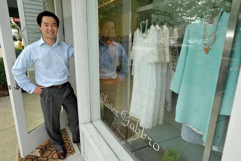 Patrick Heesang Chae is the managing director of Olivine Gabbro in Greenwich, Conn. The upscale women's fashion store on East Elm Street will be relocating to Greenwich Avenue in the middle of September. Photographed on Monday, July 14, 2014. Photo: Jason Rearick / Stamford Advocate