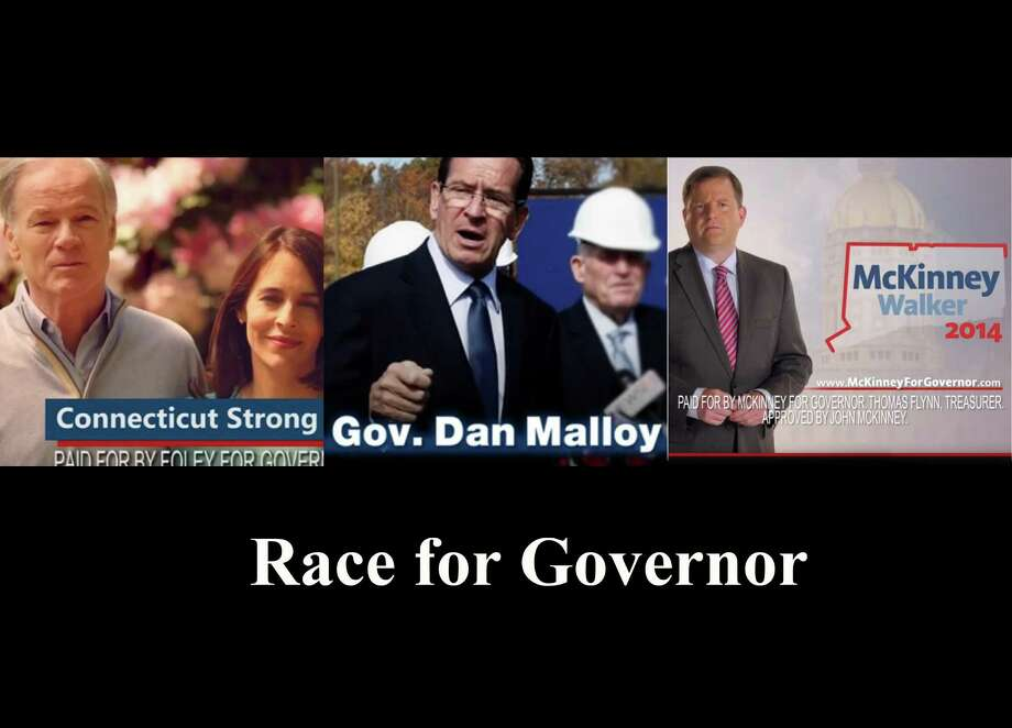 composite of Governor Race tv ads fo print promo Photo: Contributed Photo / Connecticut Post Contributed