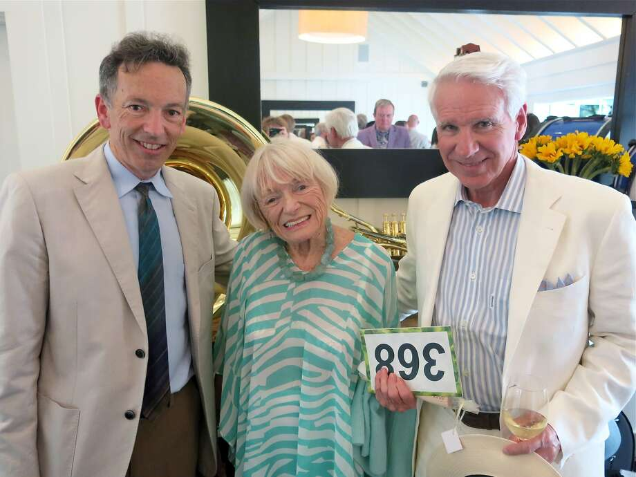 Festival del Sole director Rick Walker (left) with board members Margrit Mondavi and Timothy Blackburn at the Meadowood gala, which raised a record $1 million. Photo: Catherine Bigelow, Special To The Chronicle