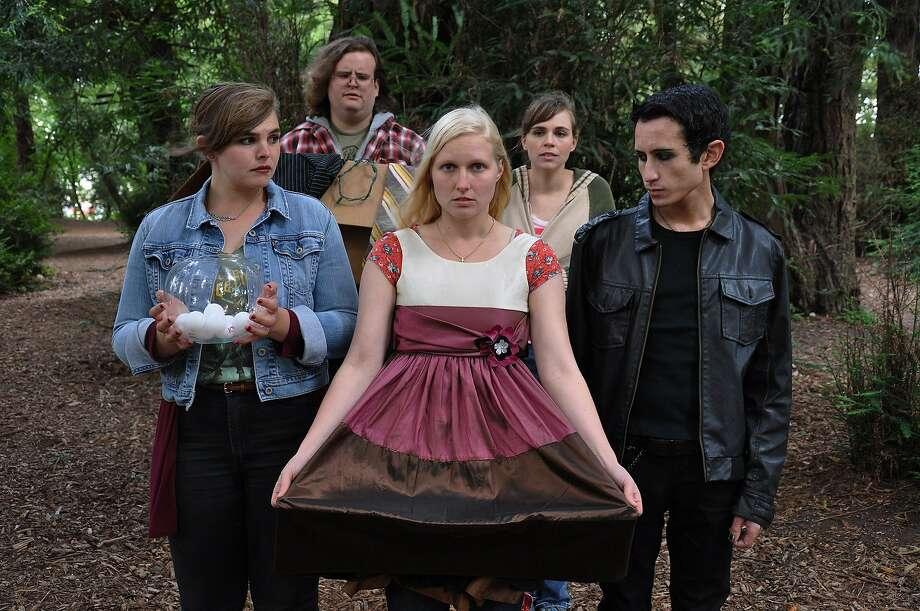 "Juliana Lustenader (center) will play Girl #2 in Rob Handel's ""Millicent Scowlworthy."" Photo: Alandra Hileman"