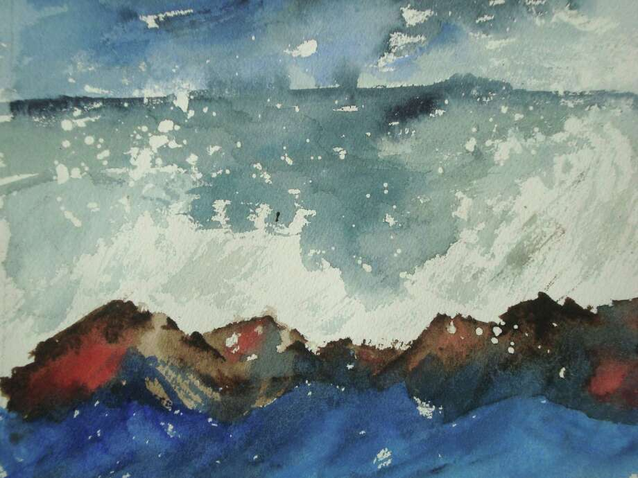 """Maine Surf"" by Stamford artist Judy Peknik is one of the pieces featured in ""Sounds of Summer,"" an exhibition opening at Stamford's Ferguson Library on July 29. Photo: Contributed Photo / Stamford Advocate Contributed"