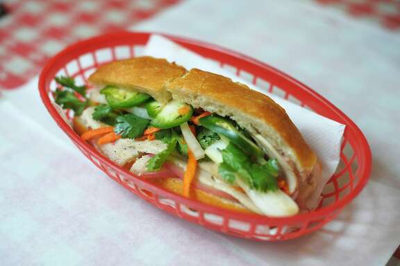 The combo banh mi at Sing Sing, a Tenderloin cafe catering to older Vietnamese men on July 11, 2014 in San Francisco, CA.