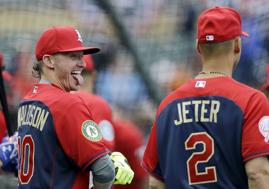 A's third baseman Josh Donaldson (left) will be infield mates with shortstop Derek Jeter for the Yankee's All-Star finale. Photo: Jeff Roberson, Associated Press