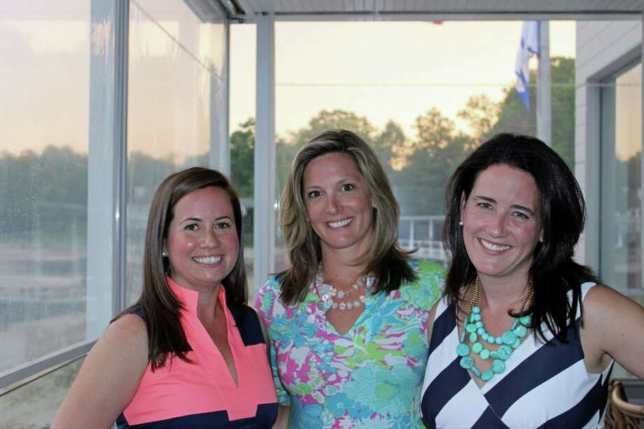 Sarah Caras, Elizabeth Hole and Caroline Gallagher were named co-presidents of Opus for Person-to-Person's Board of Directors. Photo: Contributed Photo, Contributed / Darien News Contributed
