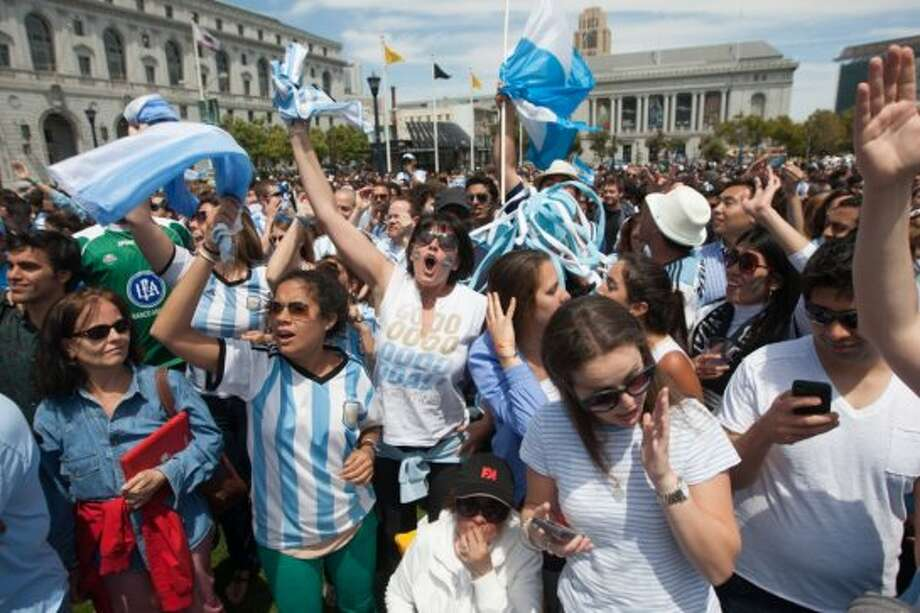 Thousands of Argentina fans, Germany fans, and soccer fans came to witness the finale to greatest sporting event on the planet. Photo: Douglas Zimmerman, Courtesy