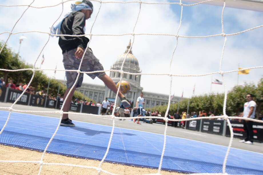 Soccer was everywhere in the Civic Center... Photo: Douglas Zimmerman, Courtesy