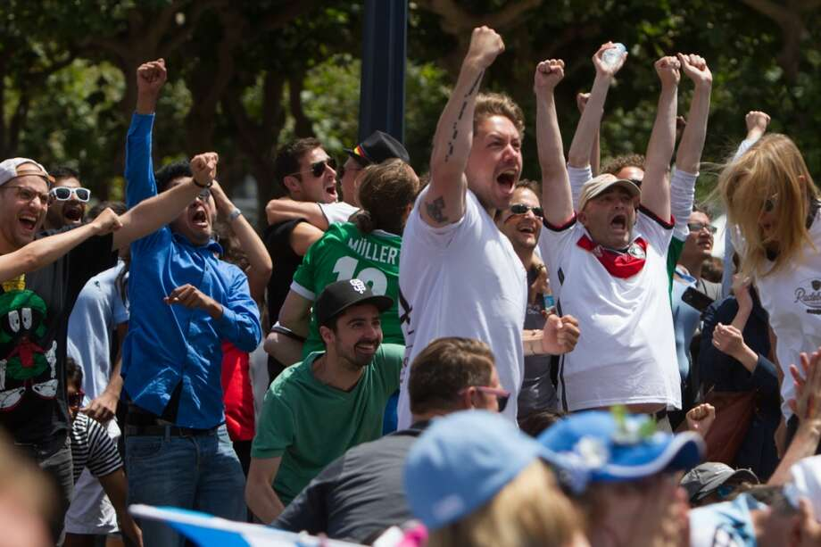 In extra time, Germany struck for a goal sending German fans into a frenzy. Photo: Douglas Zimmerman, Courtesy
