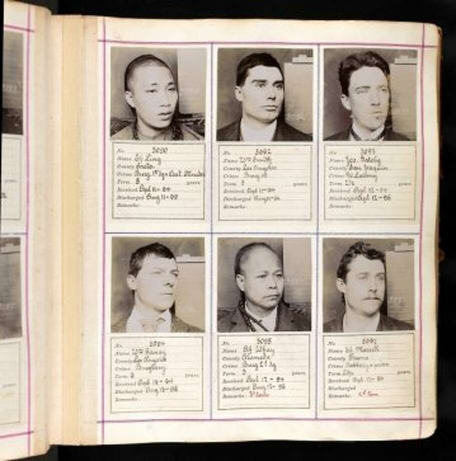 A page of prison records recently unearthed by Ancestry.com. Photo: Ancestry.com