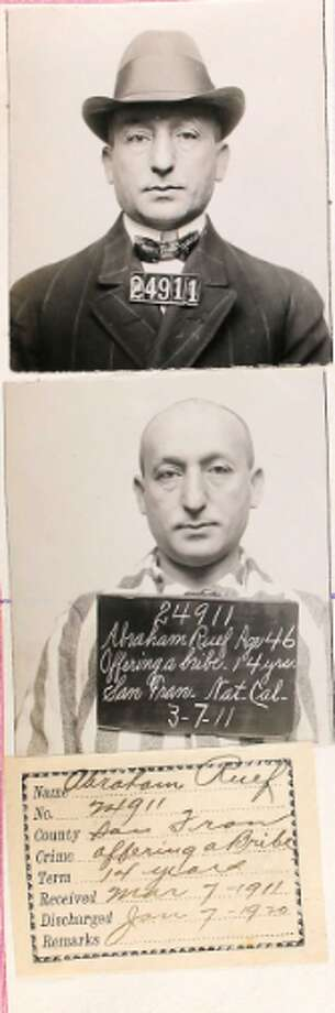 "A 46-year-old inmate who was charged with ""offering a bribe"" in 1911. Photo: Ancestry.com"