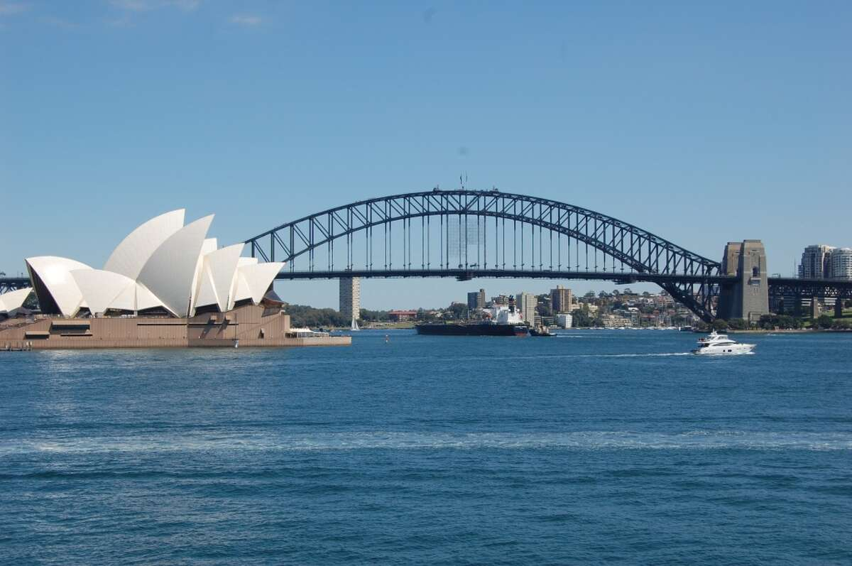 The Harbour Bridge near the Sydney Opera House serves as a launch pad for spectacular New Year's fireworks.