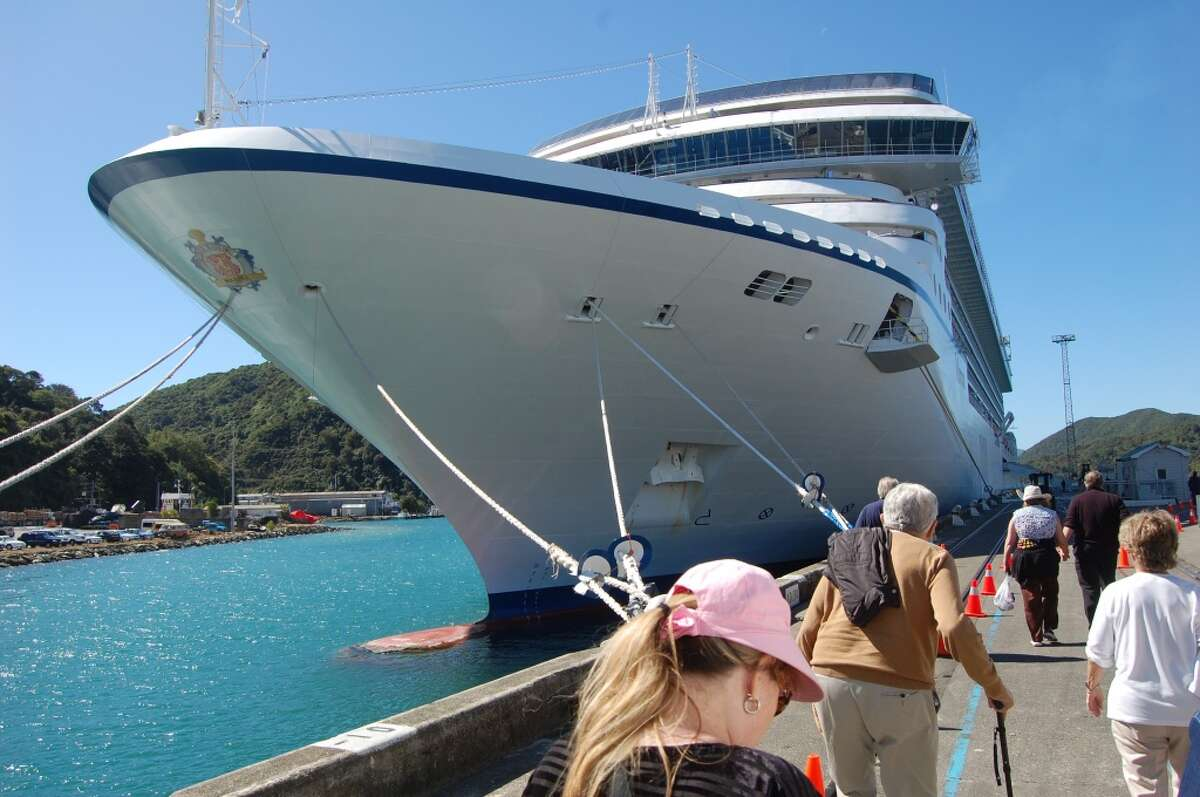 Guests return to the Marina after a day of visiting wineries and other points of interest near picturesque Picton, New Zealand.