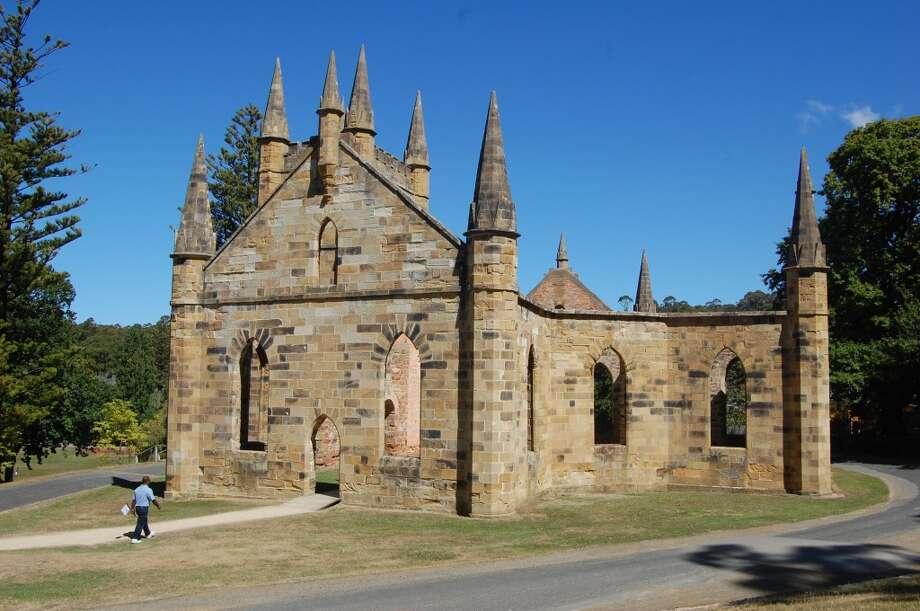 Prisoners supplied the labor for construction of the stone chapel at Port Arthur, a World Heritage site. Photo: Bob McCullough, For The Express-News