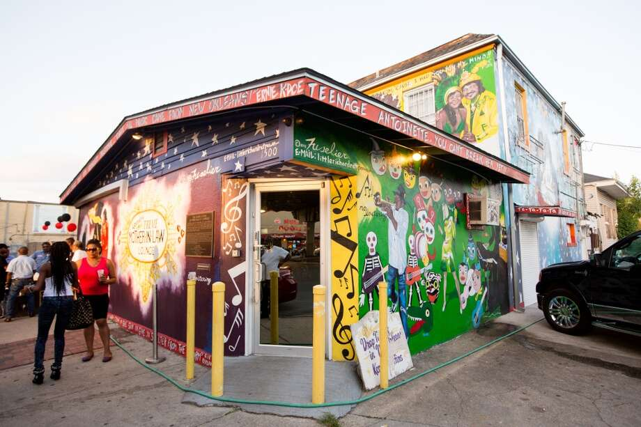 Native New Orleanian and trumpet player Kermit Ruffins reopened Mother-in-Law Lounge in January, years after its original owner Ernie K. Doe died and it was flooded during Hurricane Katrina. Photo: Josh Brasted, For The Express-News