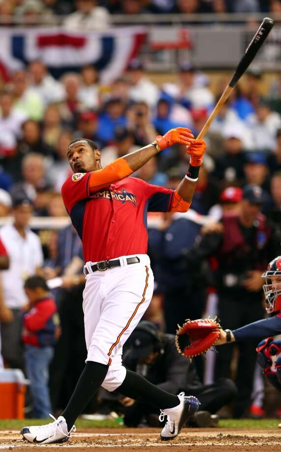 Adam Jones, OF, American League - Baltimore Orioles  First round total: 4  Second round total: 3 Photo: Elsa, Getty Images