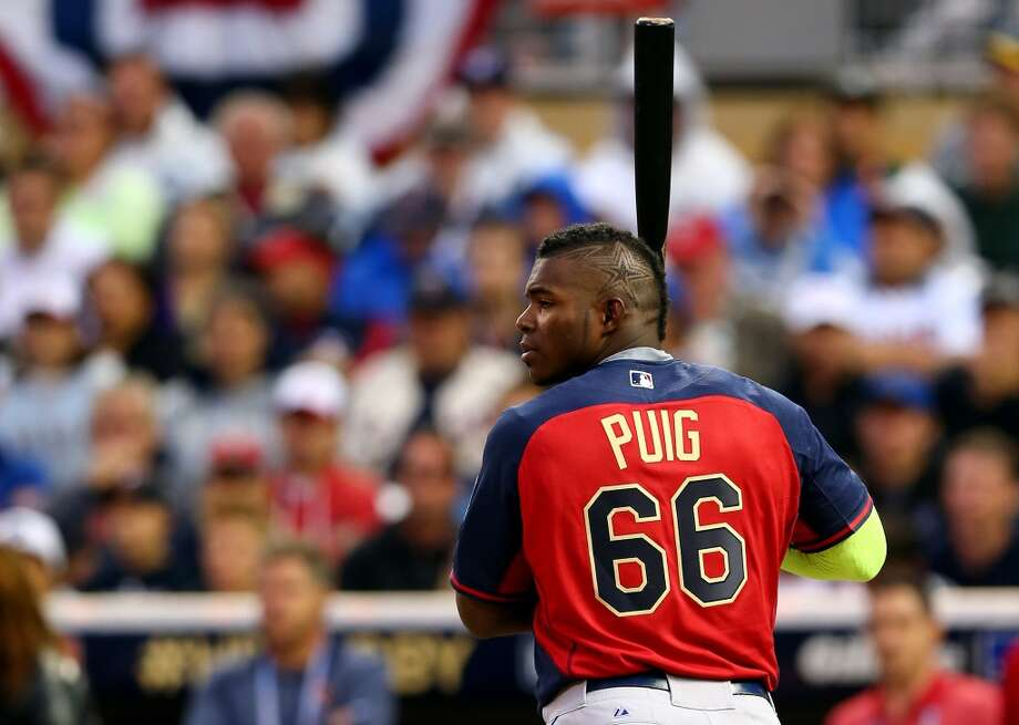 Yasiel Puig, OF, National League - Los Angeles Dodgers  First round total: 0 Photo: Elsa, Getty Images