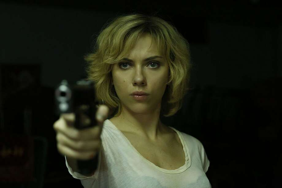 "Scarlett Johansson has brains and physical skills as ""Lucy."" Photo: Universal Pictures 2014"