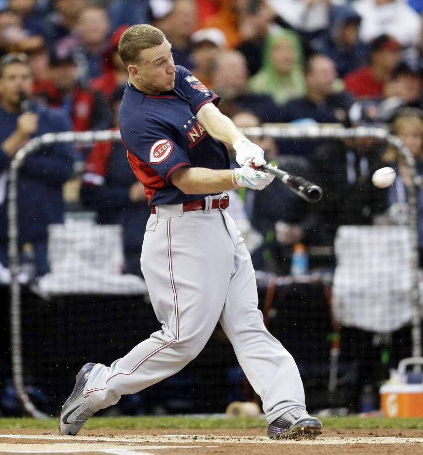 Runner-up: Todd Frazier, 3B, National League - Cincinnati Reds  First round total: 2 (1 in swing off win against Justin Morneau)  Second round total: 6  Third round total: 1 Championship round total: 1 Photo: Jeff Roberson, Associated Press