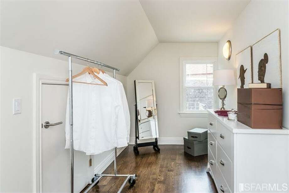 One small room on the top floor was turned into a closet. Photo: MLS