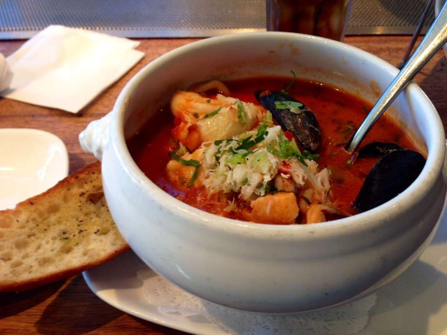 Crab House:    This is the other place in contention for the best cioppino on Fisherman's Wharf.  Crab is a star of the cioppino, supported by shrimp, calamari, white fish and mussels. It's a great version for anyone who wants to taste this classic fisherman's stew. www.crabhouse39.com