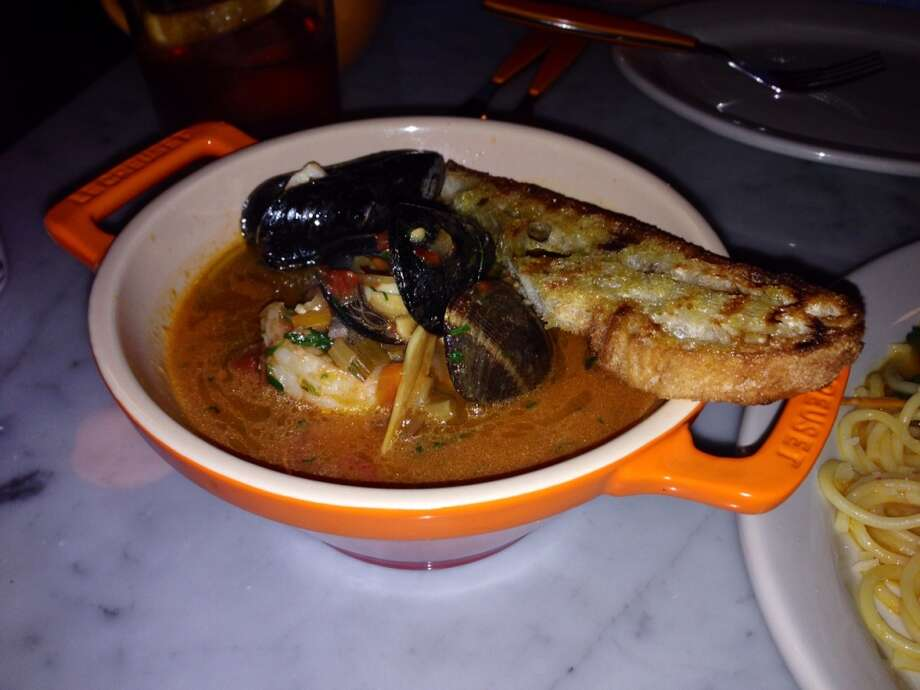 Ciccio, Yountville:This isn't on the menu all the time, but I always hope it is. Here the tomato stew is spicy, but not at the expense of the fresh seafood. And if you've never had cioppino with a Negroni, now's your chance; they have a half-dozen versions.  www.ciccionapavalley.com