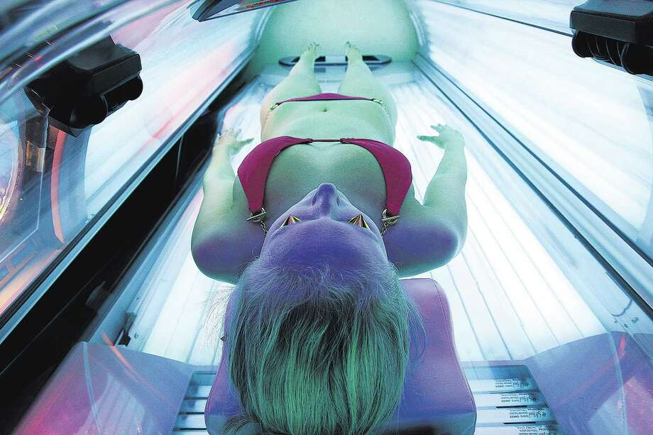 Tanning salon restrictionsTexas lawmakers cracked down on these operations.They can't admit anyone under the age of 18, even with parental permission. The previous age limit was 16½ but was changed after studies showed the risk of melanoma increased by 85 percent when teens younger than 18 used tanning beds. Photo: Robert Gauthier, . / Los Angeles Times