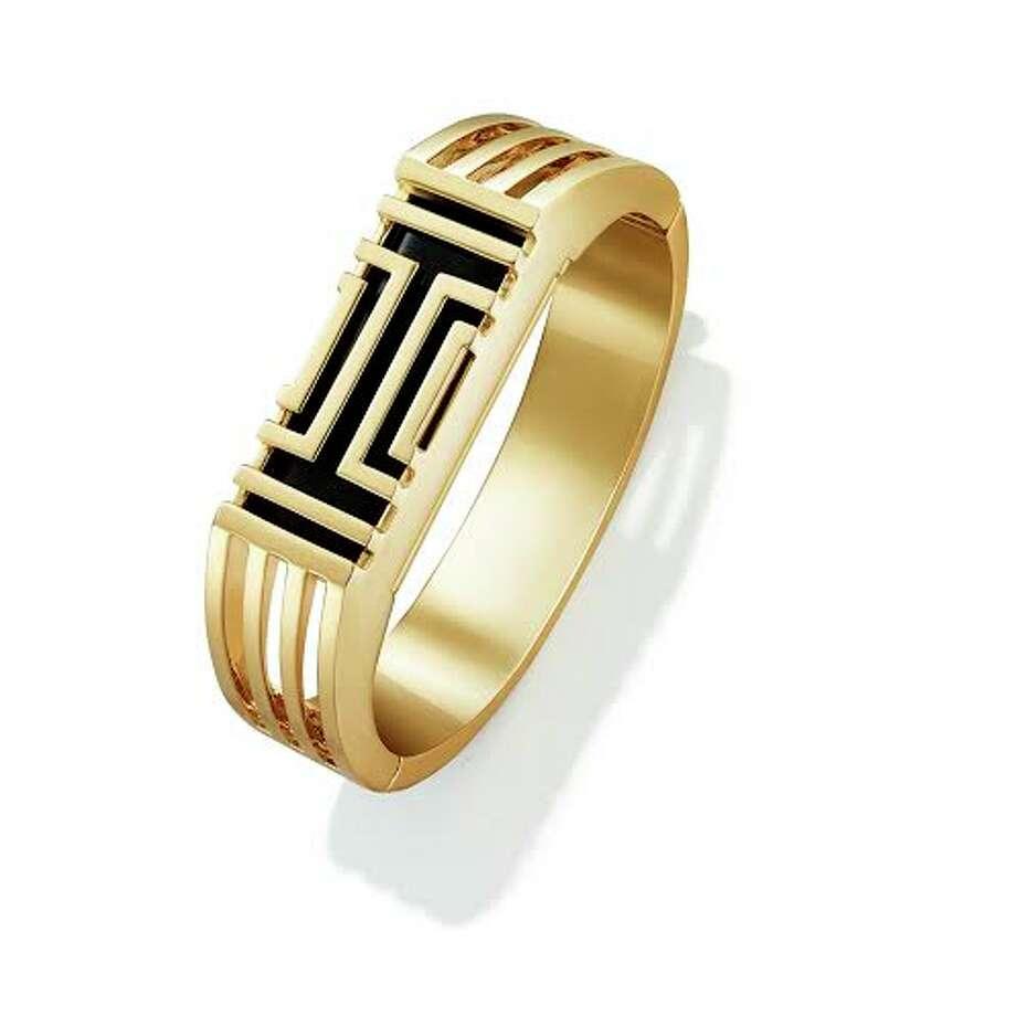 Tory Burch for Fitbit® Metal Hinged Bracelet ($195)