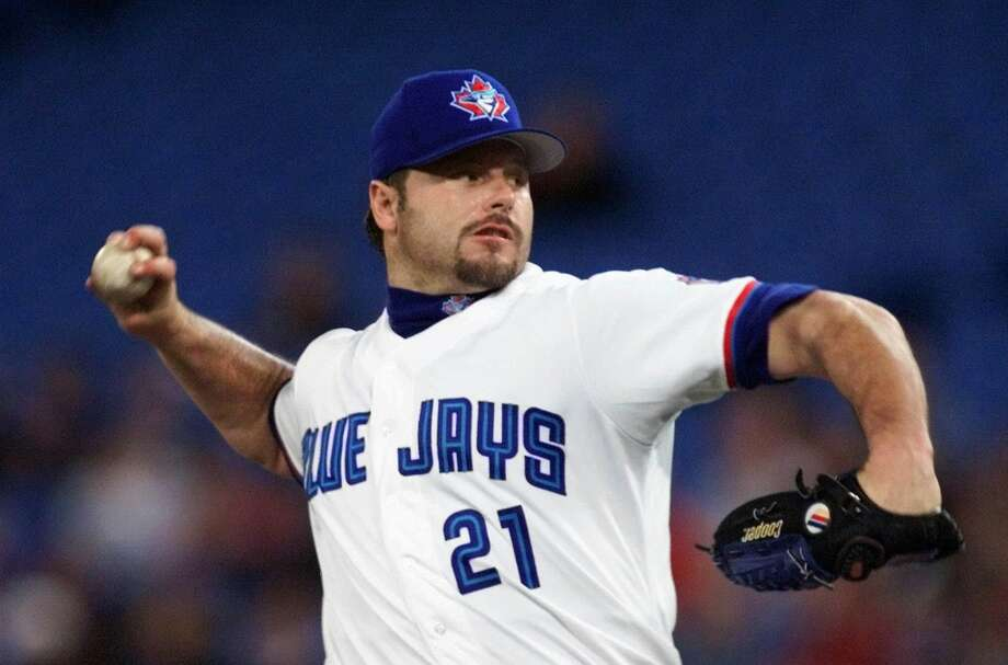 Following the 1996 season, Clemens signed a four-year, $40 million deal with the Toronto Blue Jays. In his two seasons north of the border, Clemens won two Cy Young Awards (1997, 1998) and was a two-time all-star. Photo: John Lehmann, Associated Press