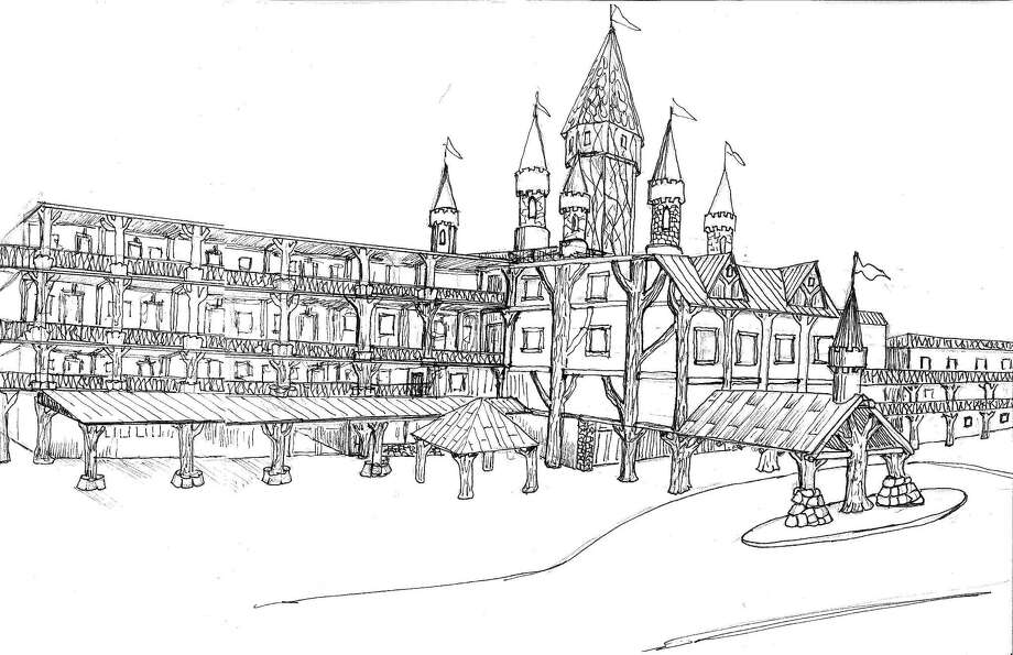 The entry sketch for Schlitterbahn in Corpus Christi. Photo: Courtesy/Schlitterbahn