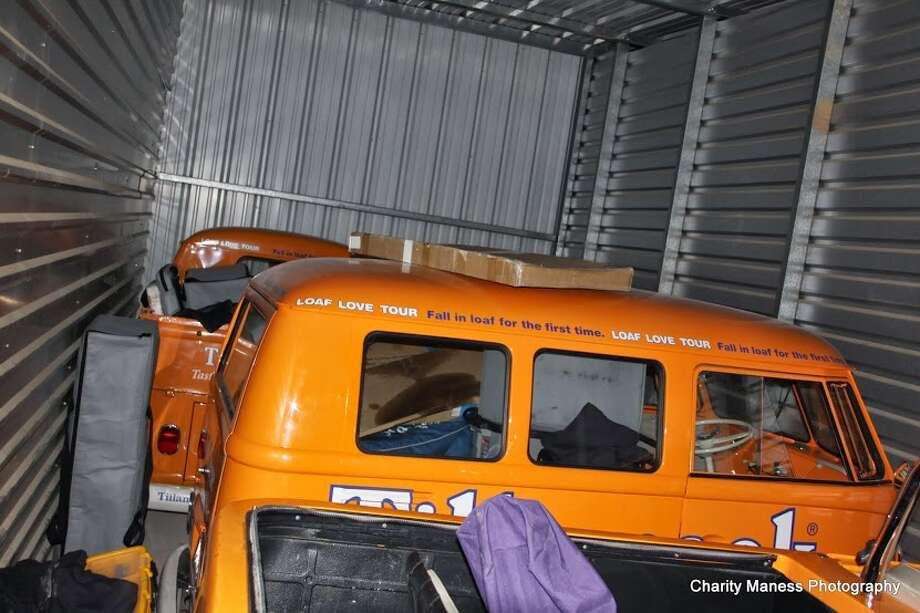 Three stolen Volkswagen microbuses  were recovered in a storage unit in Copperopolis, a town about 40 miles east of Manteca. Photo: Charity Maness, Copper Gazette