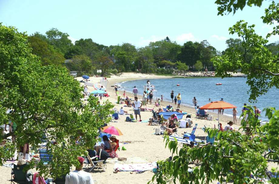 Darien beaches, including Weed Beach, shown here, are closed July 15 due to heavy rains. File Photo Photo: Jeanna Petersen Shepard / Darien News