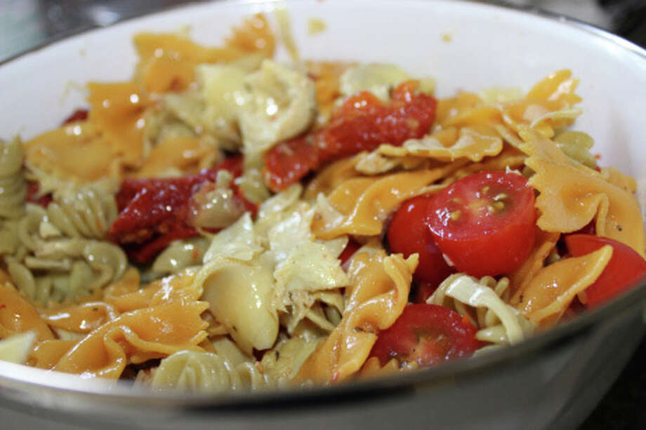 Our food writer, Jenn Press Arata, offers the rceipe for a versatile savory Italian pasta salad. Photo: Contributed Photo, Contributed / New Canaan News Contributed