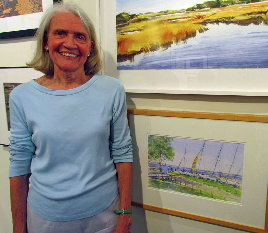 "Marianne Rothballer, of New Canaan, won second place for her watercolor ""Roton Point"" in the ""Marine and Coastal"" exhibition at the Rowayton Arts Center. Photo: Contributed Photo, Contributed / New Canaan News Contributed"