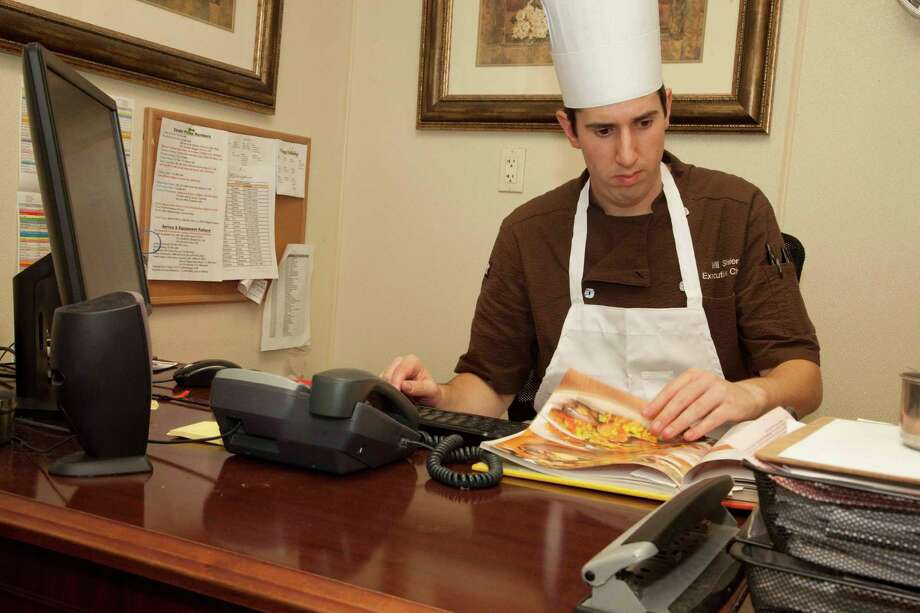 When he's not running the kitchen, The Buckingham's executive chef Will Shrier works in his office to  develop the community's healthy menu options.