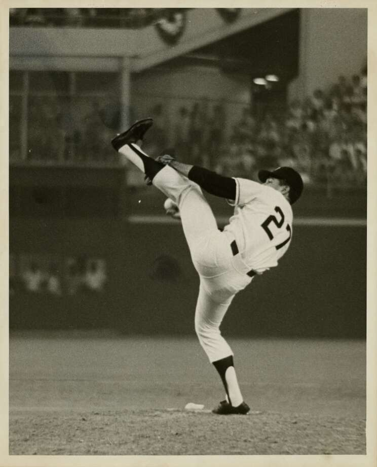 Giants pitcher Juan Marichal pitched two innings in the 1968 Major League Baseball All Star Game. Photo: Bill Goodwin, © Houston Chronicle