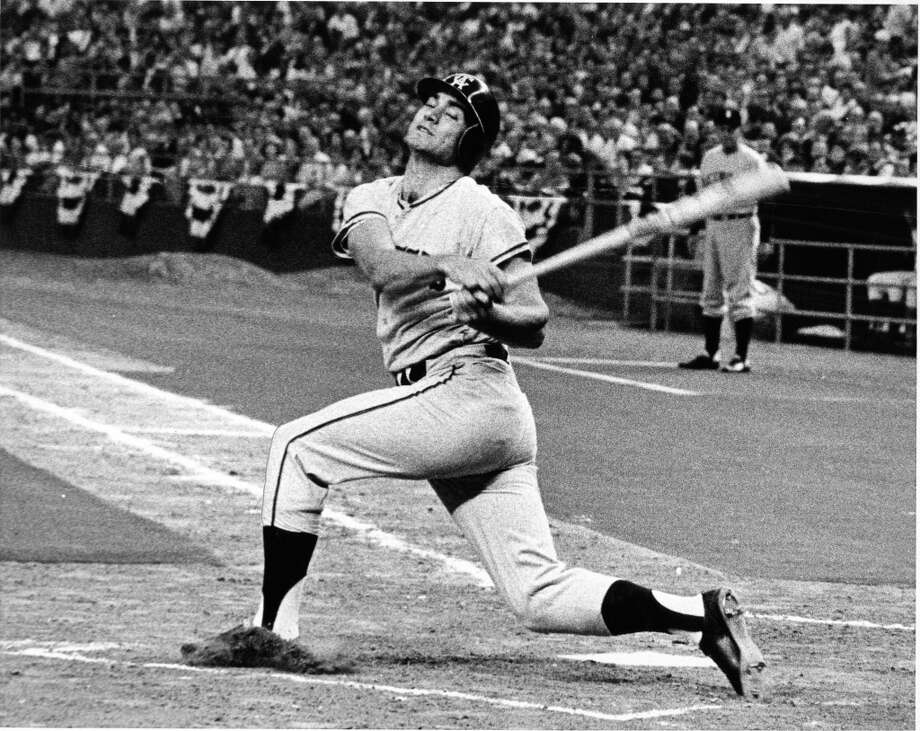 Angels Jim Fregosi swings the bat during the 1968 All-Star Game. Photo: Jim Cox, © Houston Chronicle