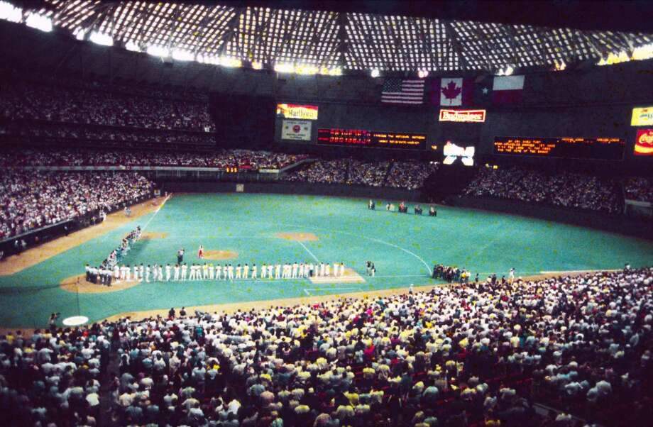 1986 All-Star Game opening ceremony in the Astrodome. Photo: Jerry Click, © Houston Chronicle