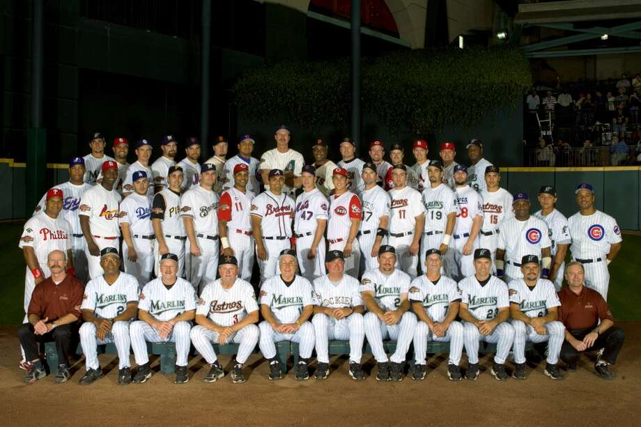 National League All-Stars team stands for a photo prior to the Major League Baseball All-Star Game. Photo: MLB Photos, MLB Photos Via Getty Images