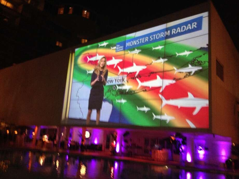 The Weather Channel's Stephanie Abrams just one of many guest cameos. Photo: Jeanne Jakle